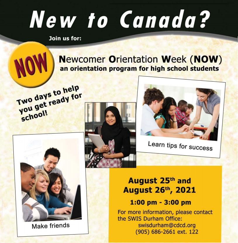 Newcomer Orientation Week (NOW)