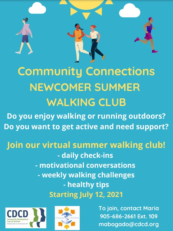 Community Connections NEWCOMER SUMMER WALKING CLUB