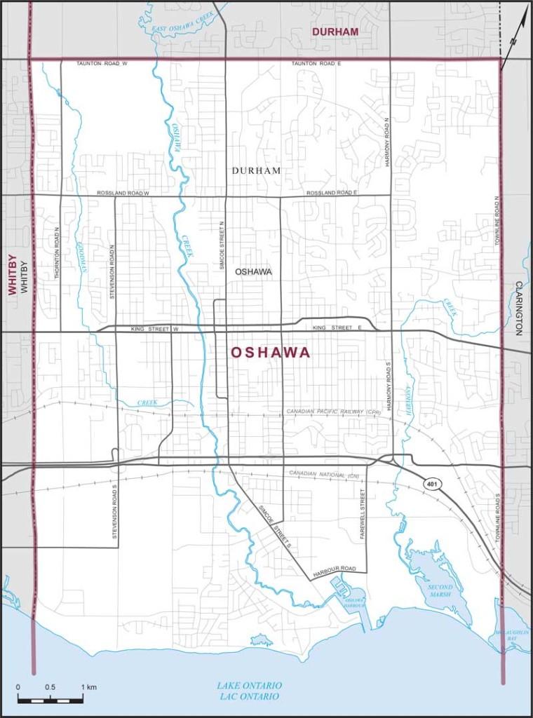Oshawa Riding Map