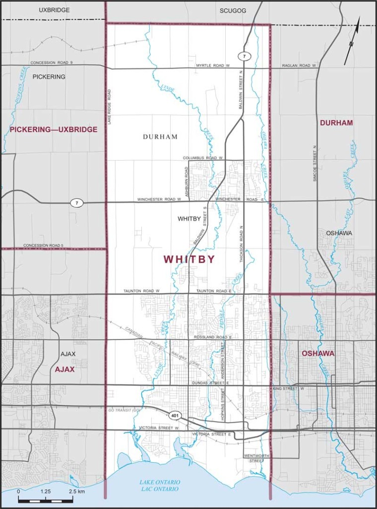 Whitby Riding Map